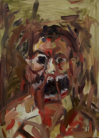 Awakening (Self Portrait) / Oil on Wood / 50 x 70 cm / 2014