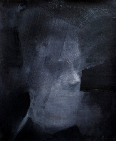 Mute (Self Portrait) / 59 x 71 cm / Oil on Canvas / 2014