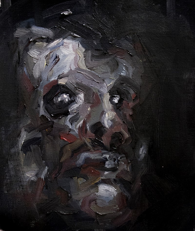Ogre (Self Portrait) / 23.8 x 29.2 cm / Oil on Canvas / 2014