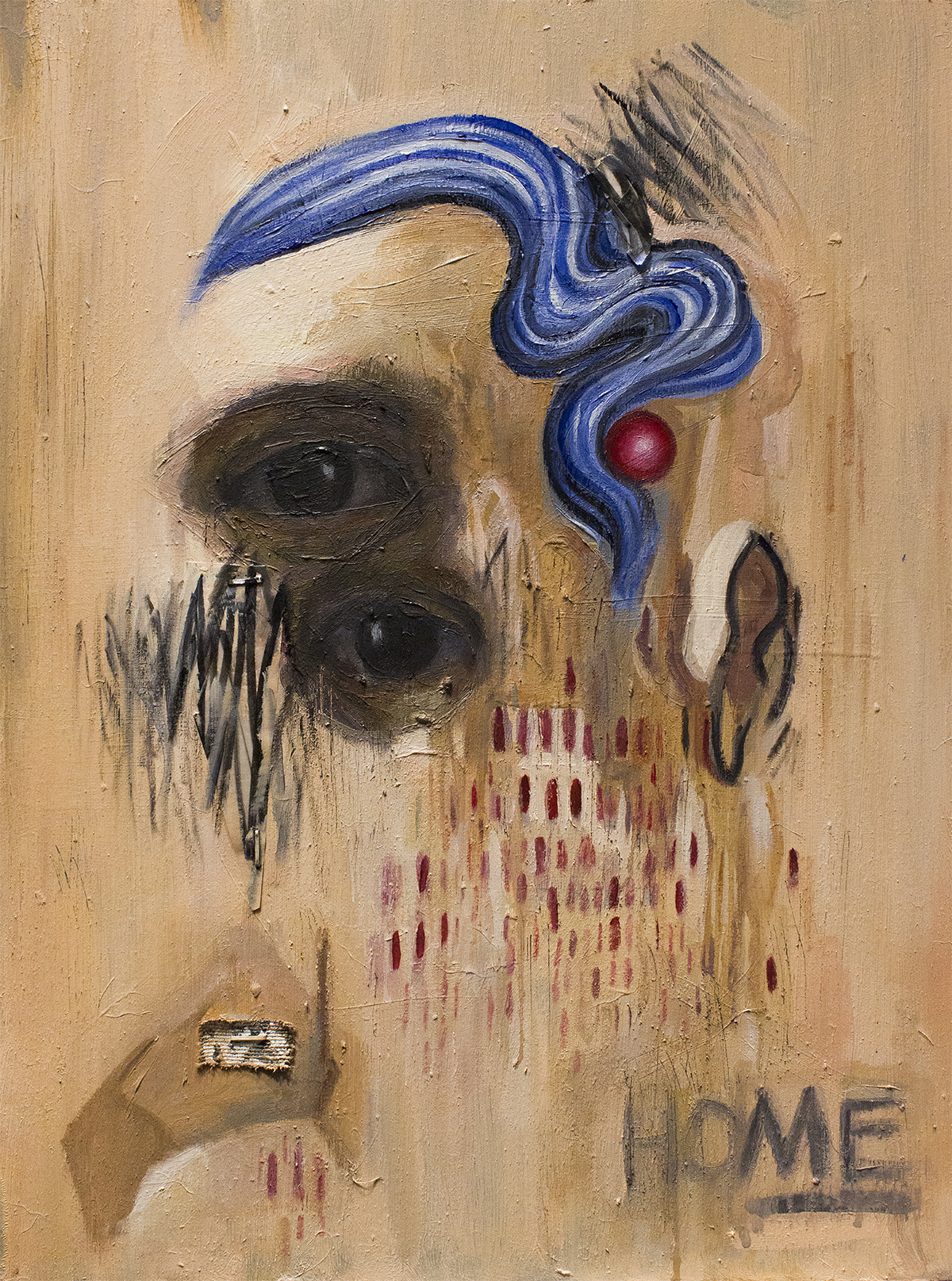 Dwell / Mixed Media on Wood / 29 x 39.5 cm / 2019