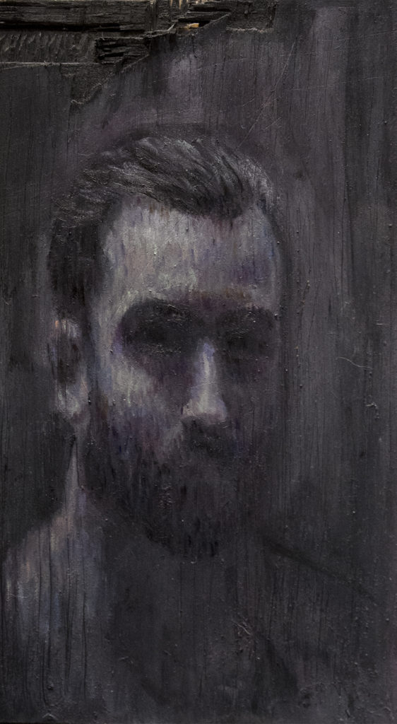 Half / Oil on Wood / 13 x 23.5 cm / 2018