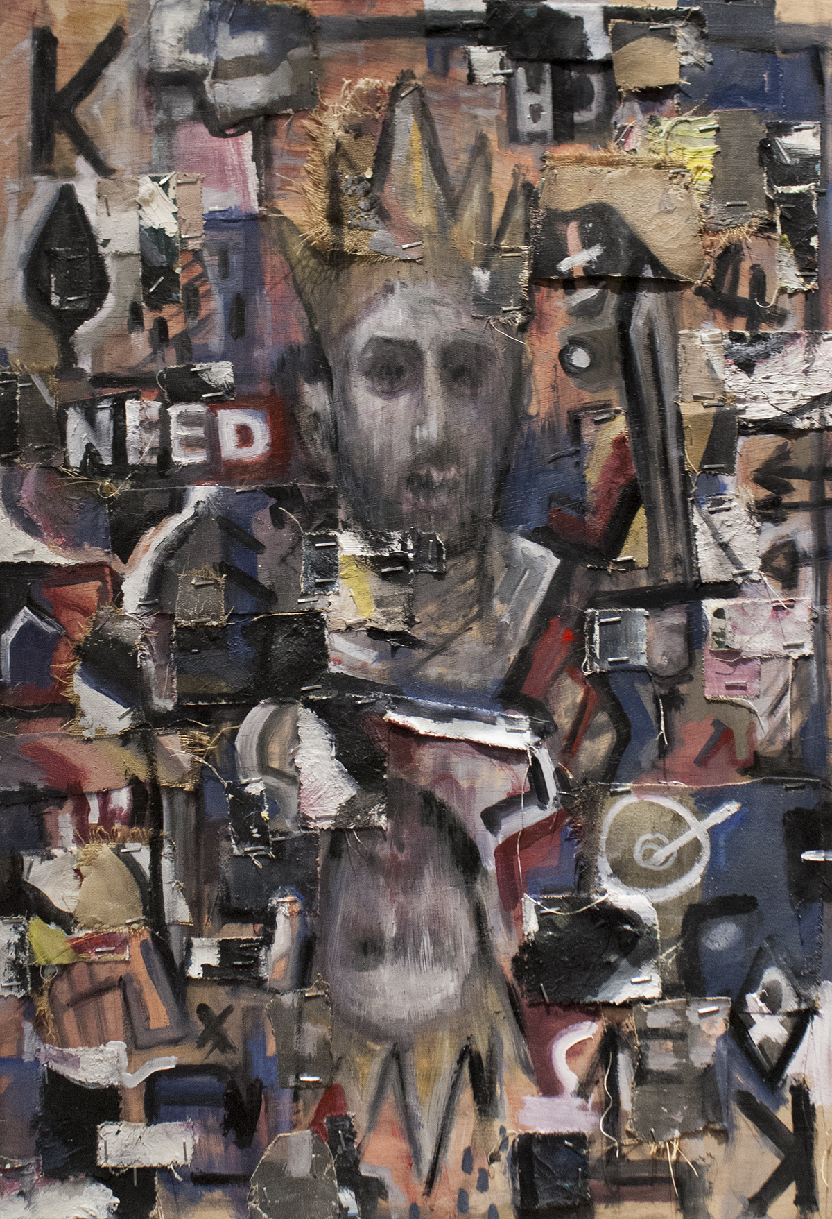 King Of Spades / Mixed Media on Wood / 44 x 65.5 cm / 2018