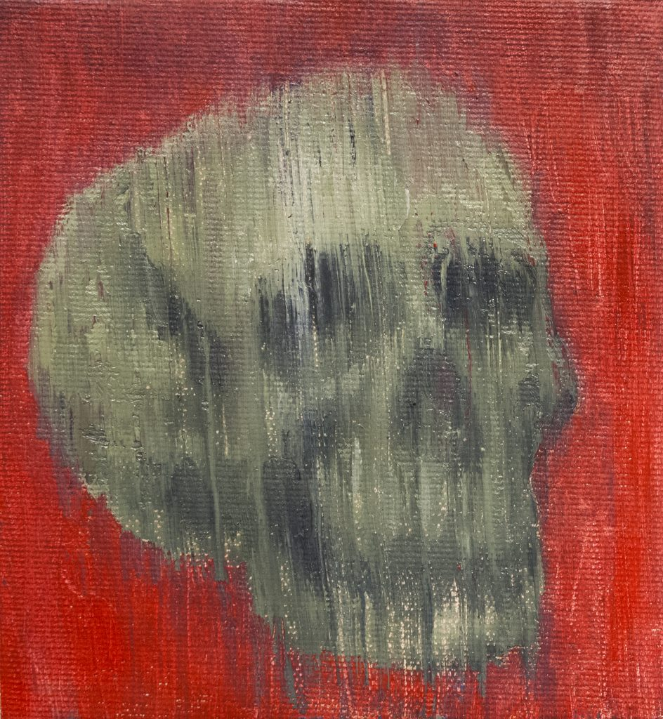 Skull Study #1 / Oil on Canvas / 15 x 16 cm / 2017