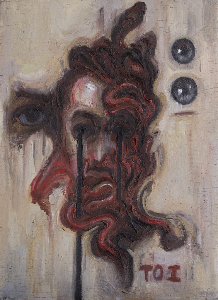 Substratum / Oil on Wood / 12 x 17 cm / 2019