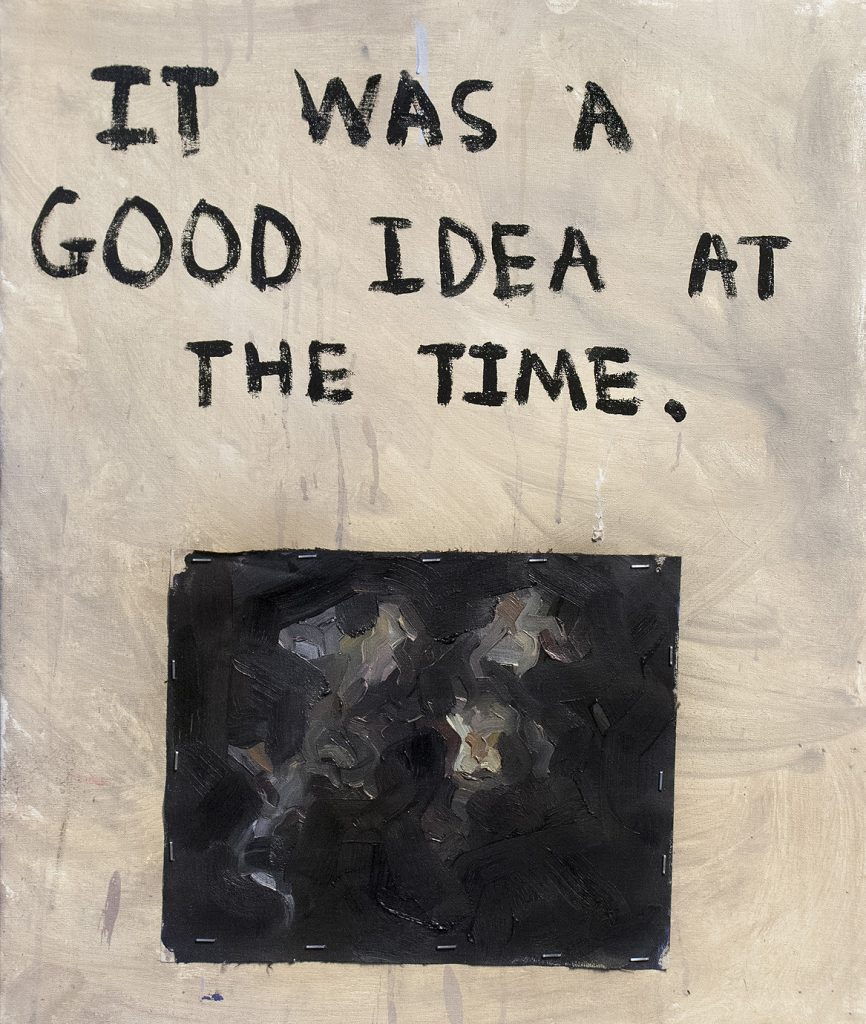 Well It Was • Mixed Media on Board • 50 x 60 cm • 2016