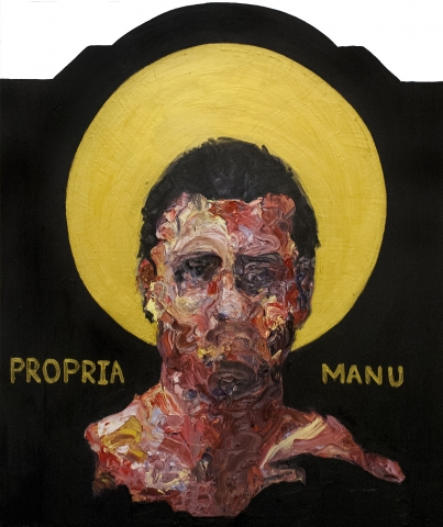 Propria Manu • Oil on Wood Panel • 78 x 92 cm • 2016