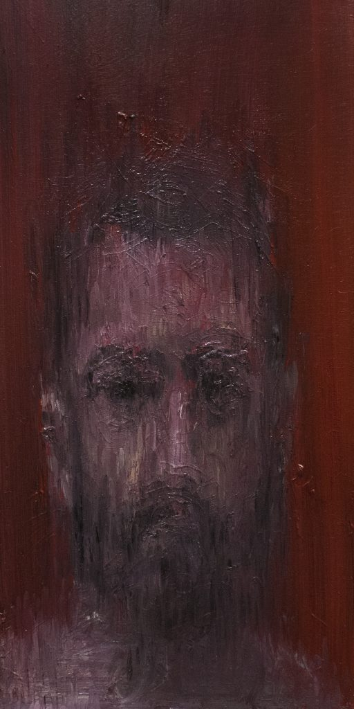Qualm / Oil on Wood / 30 x 60 cm / 2017