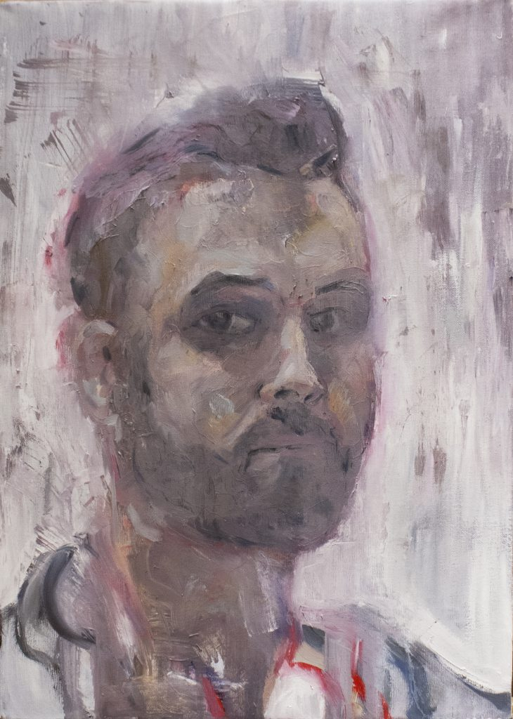 Redux (Self Portrait) / Oil on Canvas / 50 x 70 cm / 2016