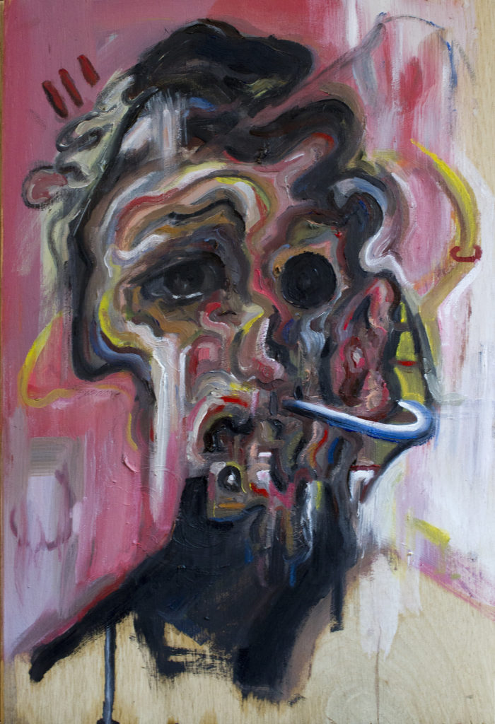 Strain / Oil on Wood / 18.5 x 28 cm / 2019